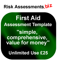 First Aid Risk Assessment Unlimited Use £25